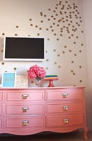 paint furniture ideas colors. Gold Dot Wall :) And A Gorgeous Coral Painted Dresser Makeover (with Great Tips For Beginners! Paint Furniture Ideas Colors