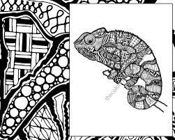 Small Picture zentangle lizard coloring page animal zentangle colouring