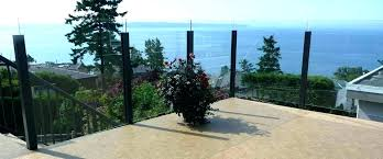 home depot deck railing systems glass railings maintenance free aluminum fence kitchen island with stools
