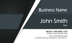 Gray Personal Business Card Design 1201921