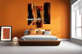 Modern Bedroom Wall Art 3 Piece Modern Red Umbrella Wall Decor