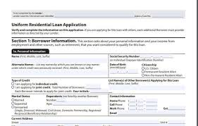 Loan Application Form The 1003 Mortgage Application Form