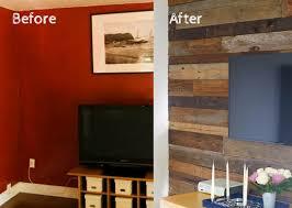 diy rustic wood accent wall clublilobal