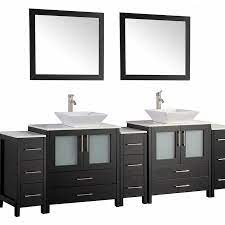 Vanity Art 96 In Double Sink Bathroom Vanity Set Espresso In The Endless Aisle Department At Lowes Com