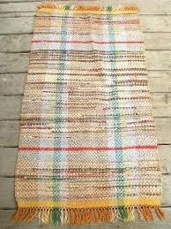 kitchen rag rugs vintage woven cotton rag rug old kitchen porch runner orange shades country kitchen