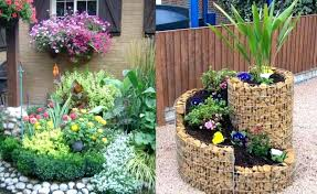 flower garden fence spring homes landscape creative tires fairy cut ideas and designs small bed pinteres