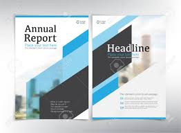 Brochure Cover Pages Modern Business Cover Pages Vector Template Blue Theme Can