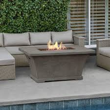 monaco 55 in fiber concrete rectangle height propane gas fire pit these types of rectangular fire pit coffee table