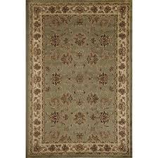 rugs america soro kashan light green indoor area rug common 8 x 11