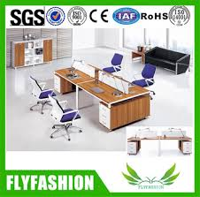 high quality office work. PT-17 High Quality Modern Wooden Office Table 4 People Workstation Furniture Work Desk U