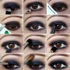clic smokey eye makeup step by step tutorial for brown eyes