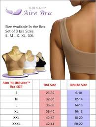 Slim N Lift Aire Size Chart Aire Bra Very Soft Full Coverage Cups Ultra Wide Comfort