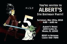 Star Wars Birthday Invite Template Les Toiles