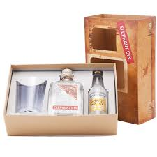 elephant london dry gin gift set with tonic and gl 50cl nv