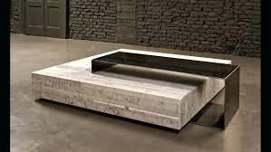 marble wood coffee table modern