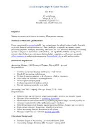 Example Accounting Manager Resume Http Www Resumecareer Info