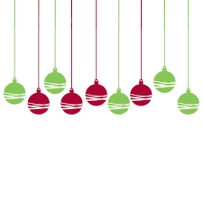 Red christmas ornament graphics happy holidays