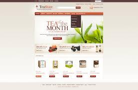 Buy Web Page Design Website Design 43331 Tea Store Shop Custom Website Design