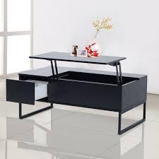 homcom lift top coffee table convertible tea desk furniture wood