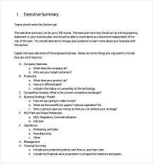 Executive Summary Sample Executive Summary Template 8 Documents In Pdf Word