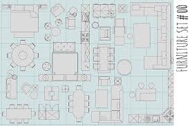 Floor Plan With Furniture  Home DesignFurniture Icons For Floor Plans