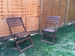 ikea Äpplarö folding wooden garden table and 4 folding chairs