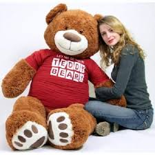 Big Plush Giant 5 Foot Teddy Bear Caramel Color Wears Tshirt LET ME BE YOUR TEDDY BEAR from Jet.com at SHOP.COM