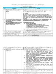 Faq About Malaysian Halal Certification Slaughterhouse Malaysia