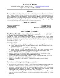 Sample Resume For Call Center Operations Manager New Call Center