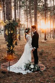 Woodsy Forest Foliage Wedding Altar + Ceremony | PNW Wedding | Pacific  Northwest Wedding | Forest