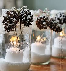 How To Decorate Candle Jars Winter Luminaries Snowy Pinecone Candle Jars 40