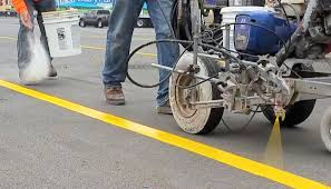 pavement marking parking lot striping machine spence ideas parking lot striping machine kelly creswell air atomized parking lot paint striper striping curb