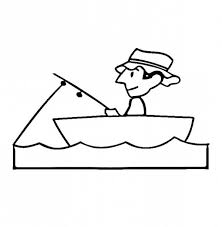 Small Picture Fisherman Patience Waiting for Fish Coloring Page Coloring Sky