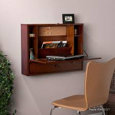wall mounted office. Charming Wall Mount Office Desk For Your Design: Mahogany Wood Folding Mounted