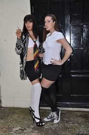 Paige and Tiff Smoking School Girls Paige Turnah