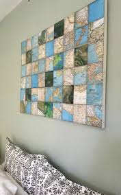 world map art collage on canvas create this framed piece of artwork with old world