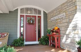country front doorsMake A Splash With A Red Front Door
