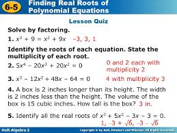 lesson quiz solve by factoring 1 x3 9 x2 9x