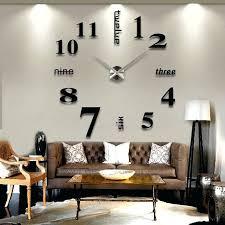 Small Picture Wall Clock Ring And Circle Acrylic Mirror Wall Clock Decorating