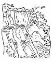 Раскраски водопады