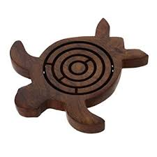 Wooden Maze Games Amazon Shalinindia Wooden Turtle Labyrinth Maze 100100 Inch 11