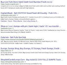 google results for stolen data