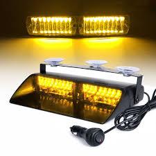 Flash Light S2 16 Led Amber Viper S2 Signal Car Strobe Flash Light Dash Emergency Warning Light 18 Flashing Mode Lamp Dc12v
