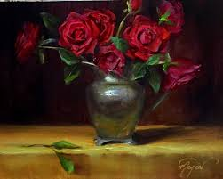 say it with red roses by artist pat meyer