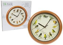 10 singing birds wall clock 12 bird sounds hour sleep mode battery wildlife