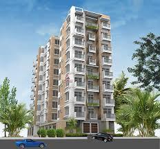 apartment building design. 3d Building Rendering Apartment Design T
