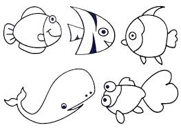 Ocean Creatures Coloring Pages Ocean Animals Coloring Pages Sea