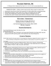 New Nurse Resume No Experience Resumes How To Write A New Nursing Graduate Resume Also No