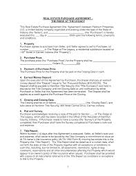 Free Printable Real Estate Sales Contract Basic Sale Purchase Agreement Or Contract Letter For Selling Real 9