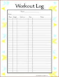 Workout Excel Sheet Running Log Template Luxury Printable Free